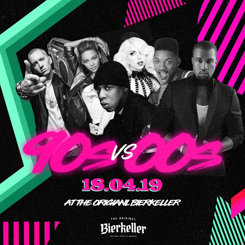 90's vs 00's Throwback (Bank holiday Thursday)