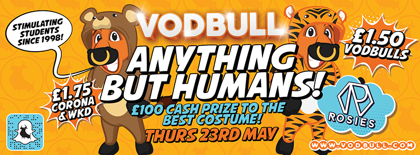 Vodbull Anything But Humans Party!!