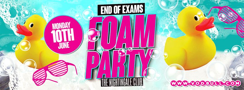 End of Exams FOAM PARTY!!