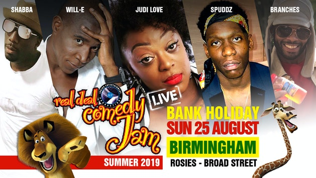 Real Deal Comedy Jam – Birmingham – Summer 2019