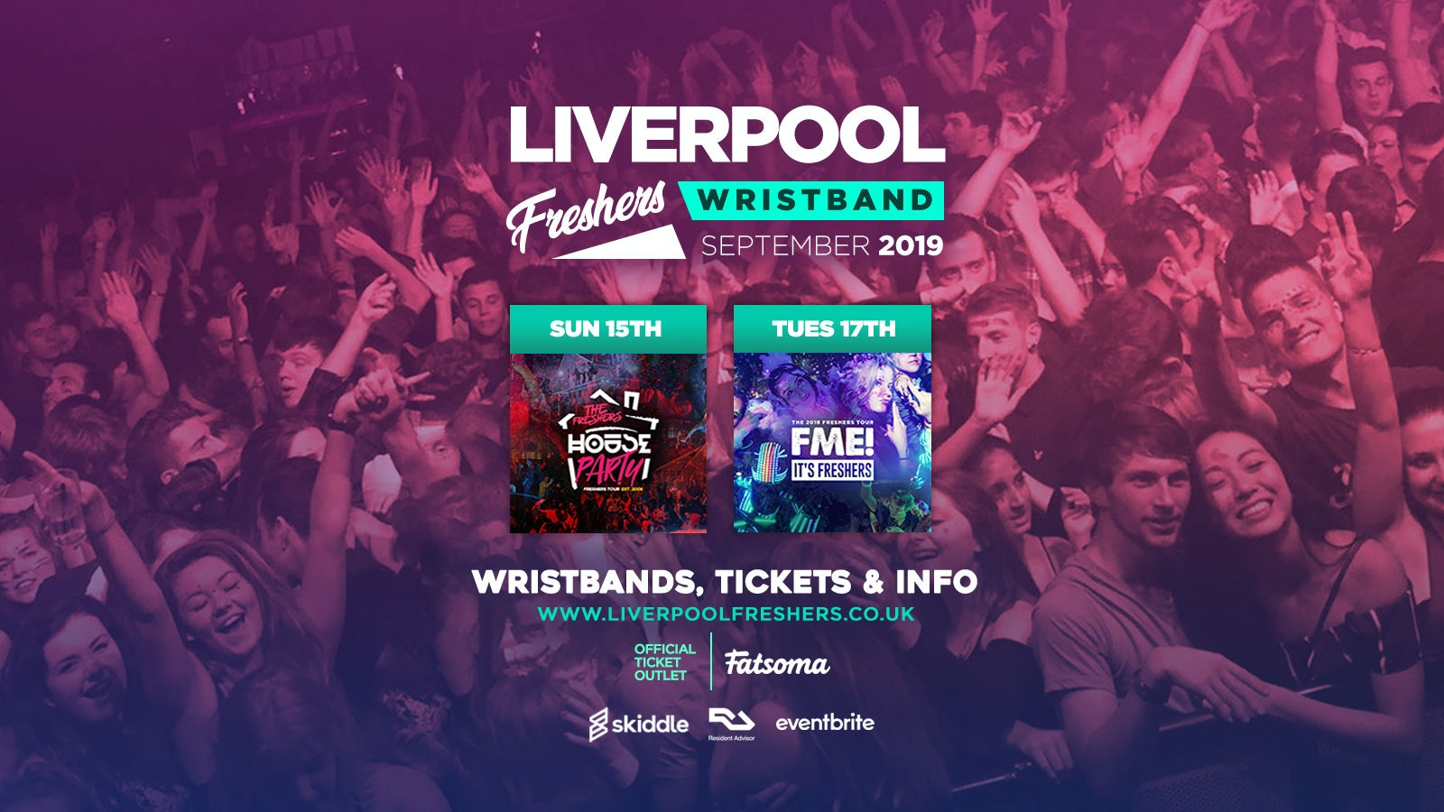 The Liverpool Freshers Pack /// F*CK ME & House Party Double Ticket