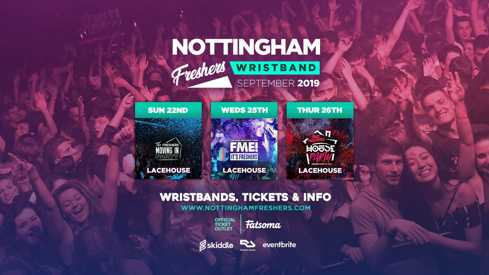 Nottingham Freshers Wristband 2019 ///
