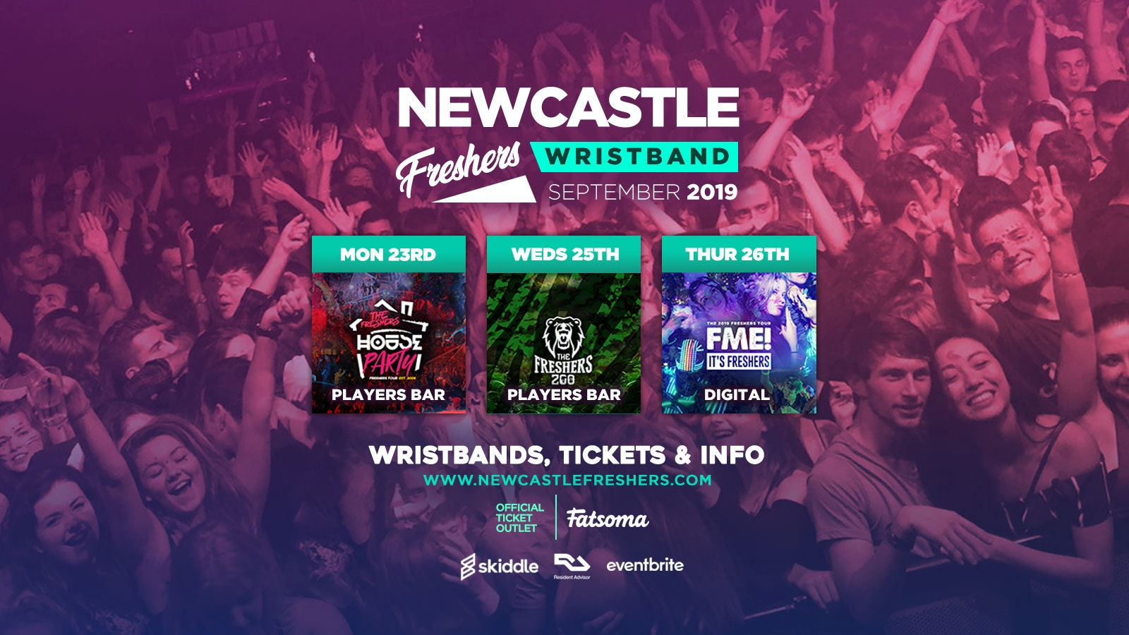 Newcastle Freshers Wristband 2019 ///