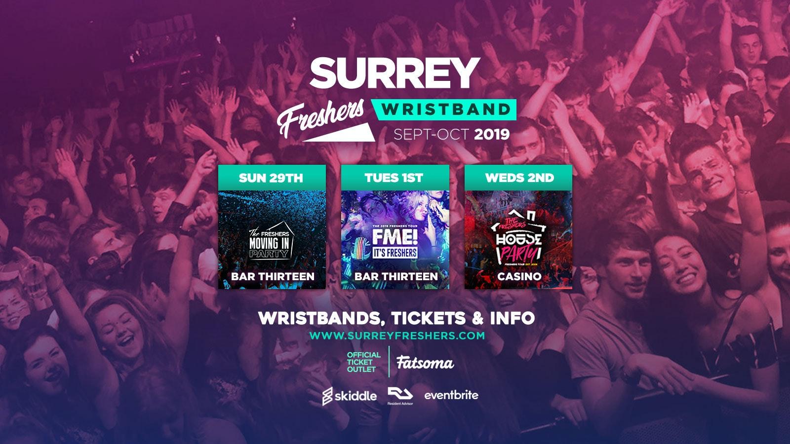 Surrey Freshers Wristband 2019 (Guildford) ///