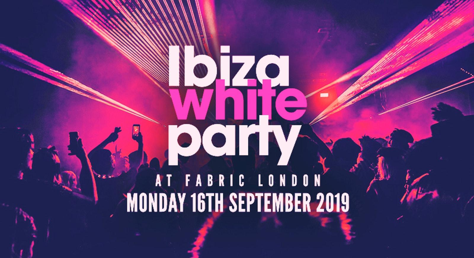 THE 2019 FRESHERS IBIZA WHITE PARTY // FABRIC LONDON