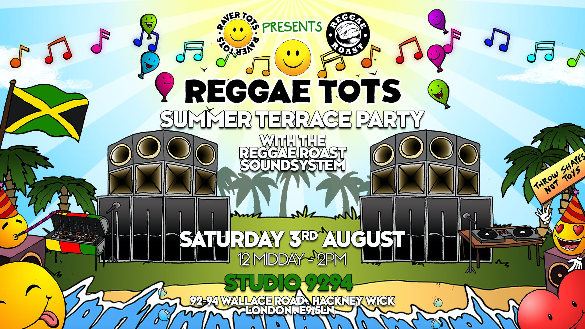 Reggae Tots Summer Terrace Party!