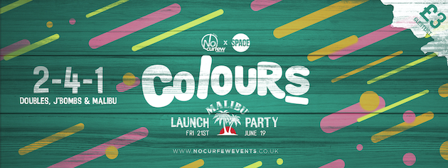 Colours Leeds at Space :: Malibu Launch Party :: 90p Drinks and 2-4-1 Tickets!