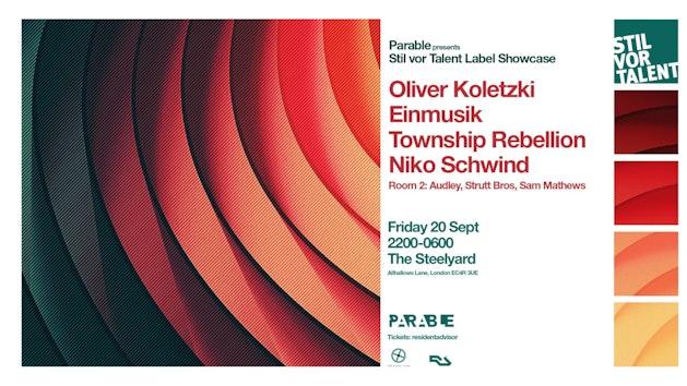 Stil vor Talent Label party: Oliver Koletzki, Einmusik, Township Rebellion, Niko Schwind