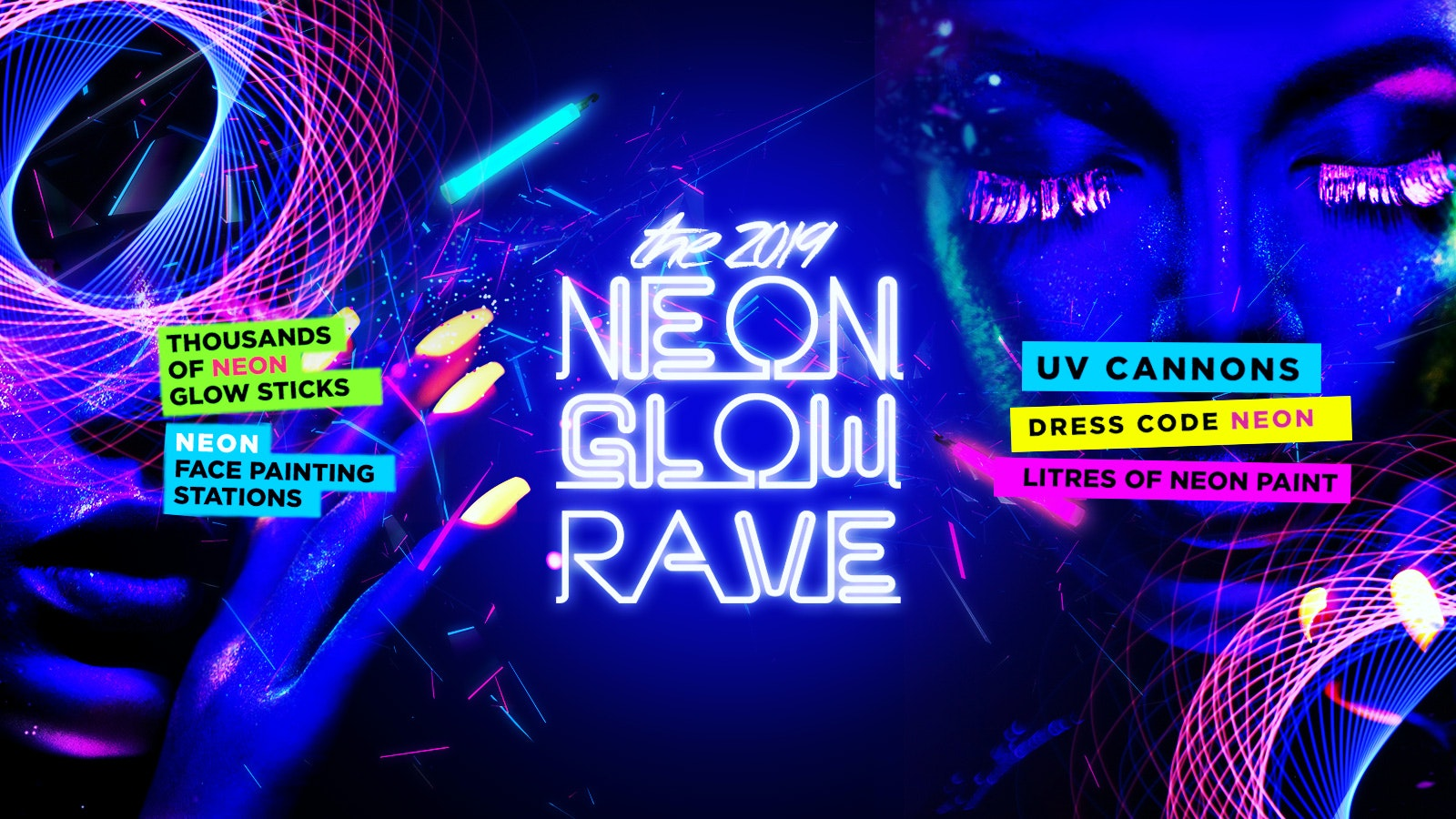 Neon Glow Rave | Coventry Freshers 2019