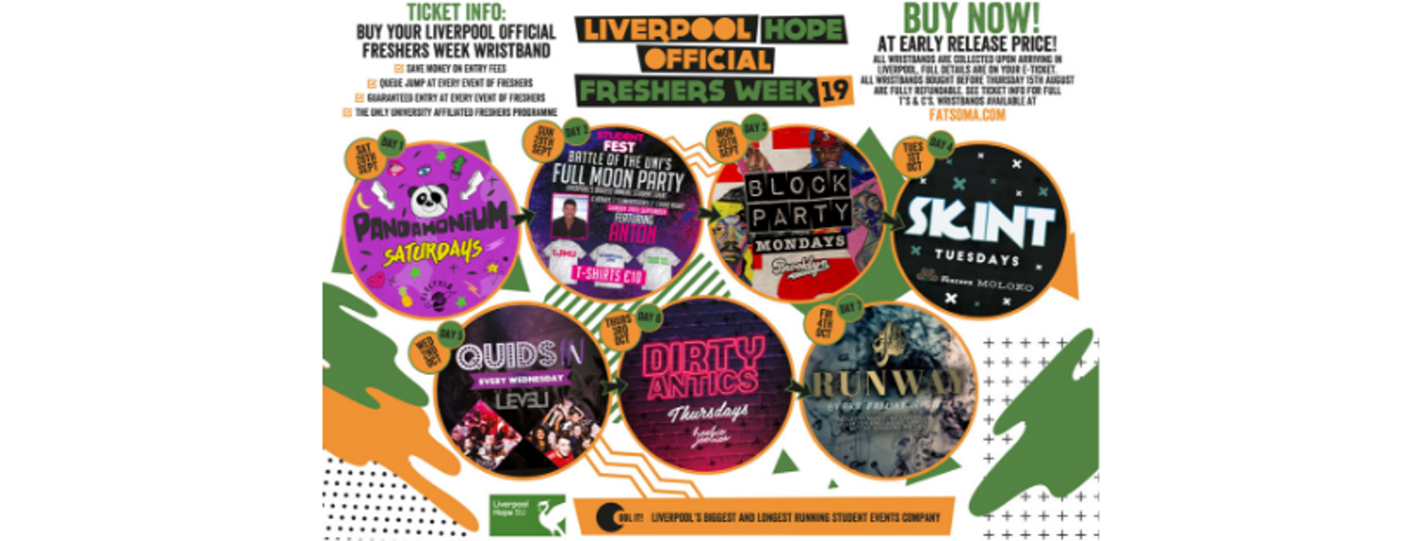 Liverpool Hope University Official Freshers Week 2019