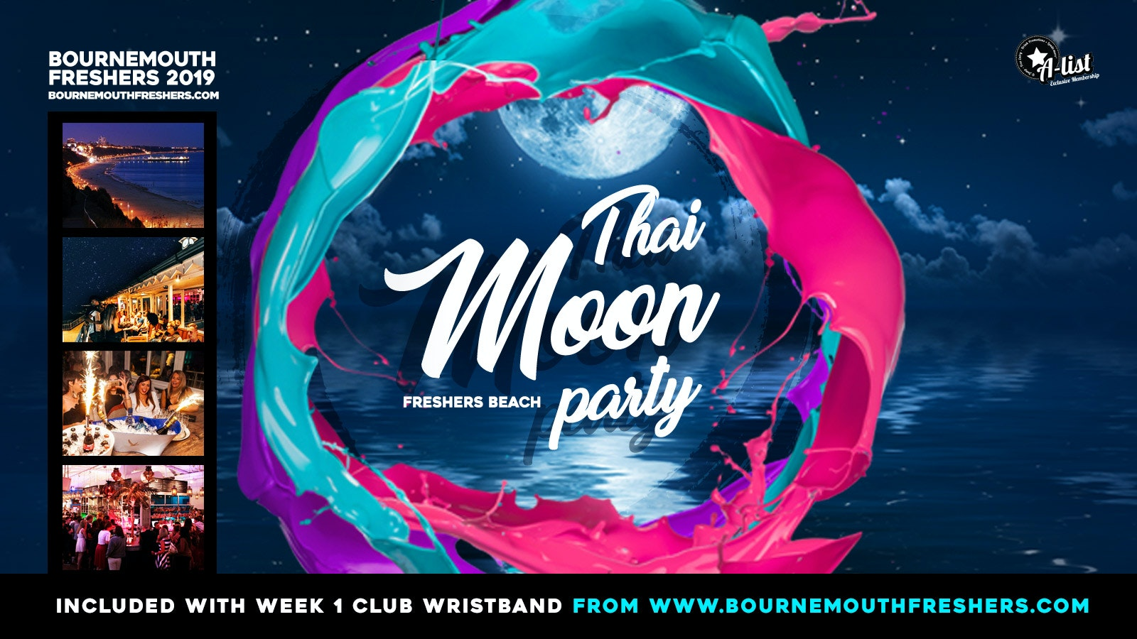 Freshers Thai Moon Beach Party at Aruba // Bournemouth Freshers 2019