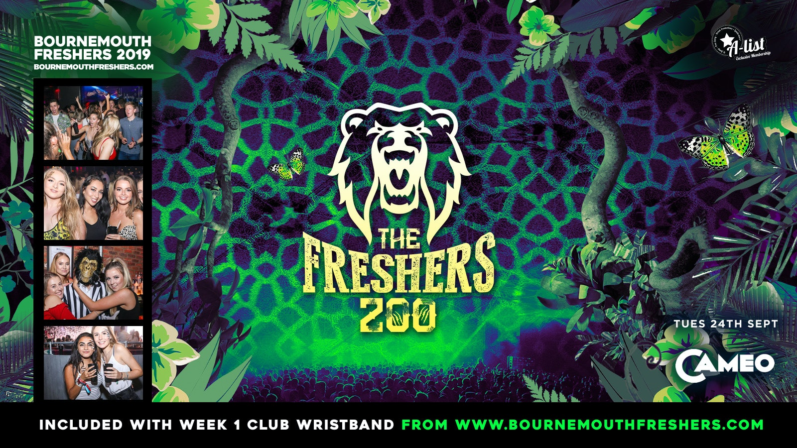 The Freshers Zoo at Cameo // Bournemouth Freshers 2019