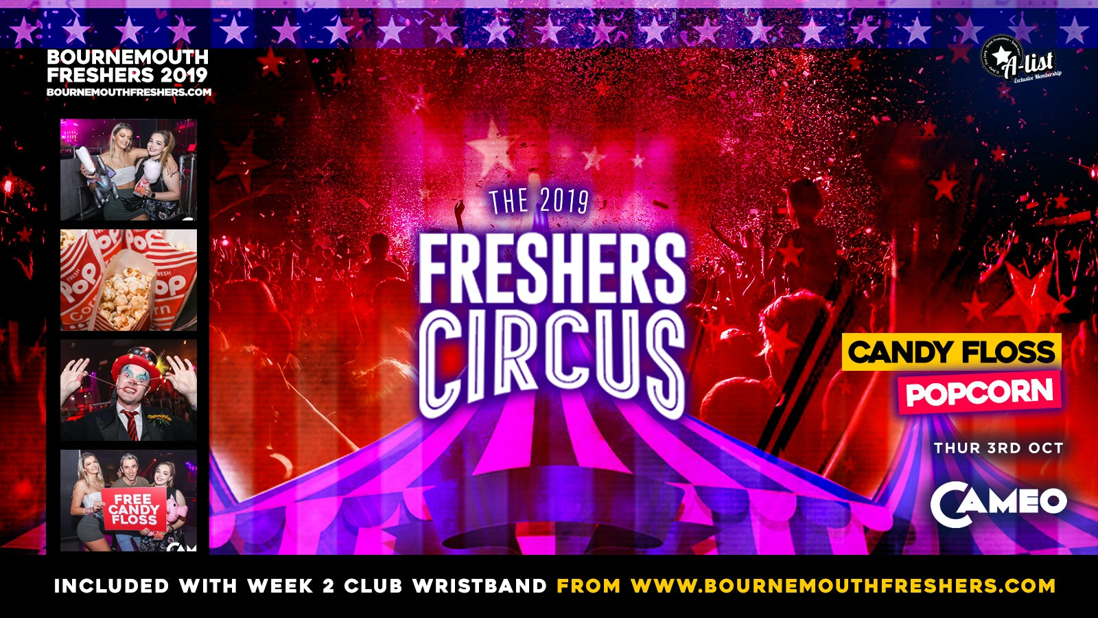 The Freshers Circus at Cameo // Bournemouth Freshers 2019