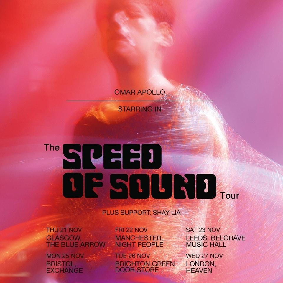 Omar Apollo – The Speed Of Sound Tour
