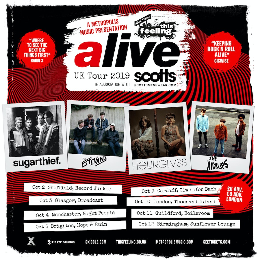 This Feeling Alive w/ SUGARTHIEF, HOURGLVSS,  THE ESTEVANS, THE KICKLIPS