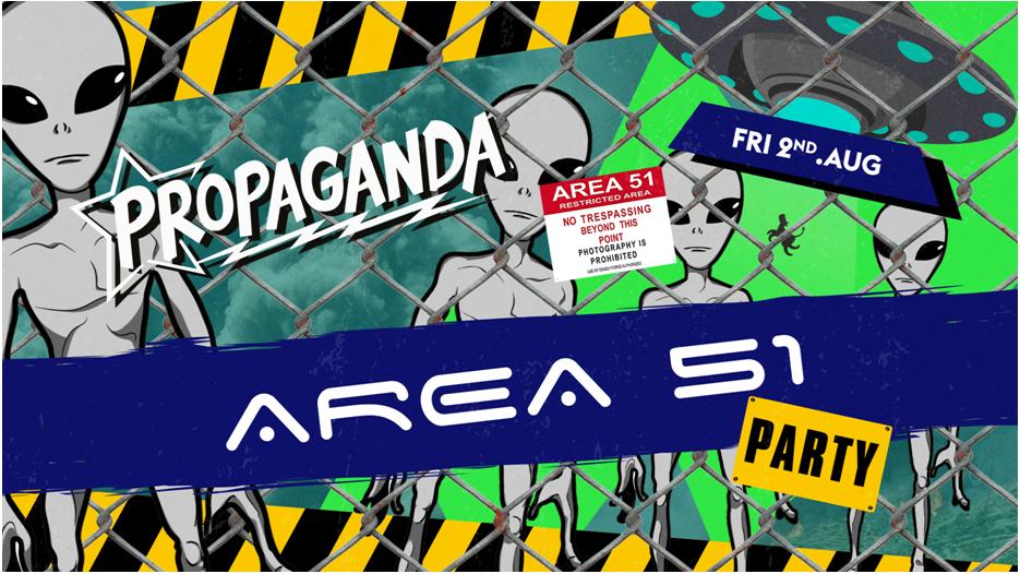 Propaganda Bath – Area 51 Party!