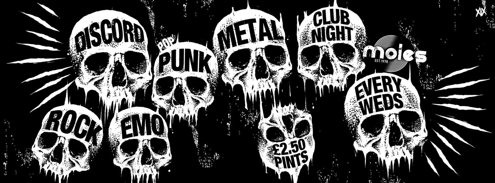 DISCORD – Rock, Emo, Pop Punk & Metal Club Night!
