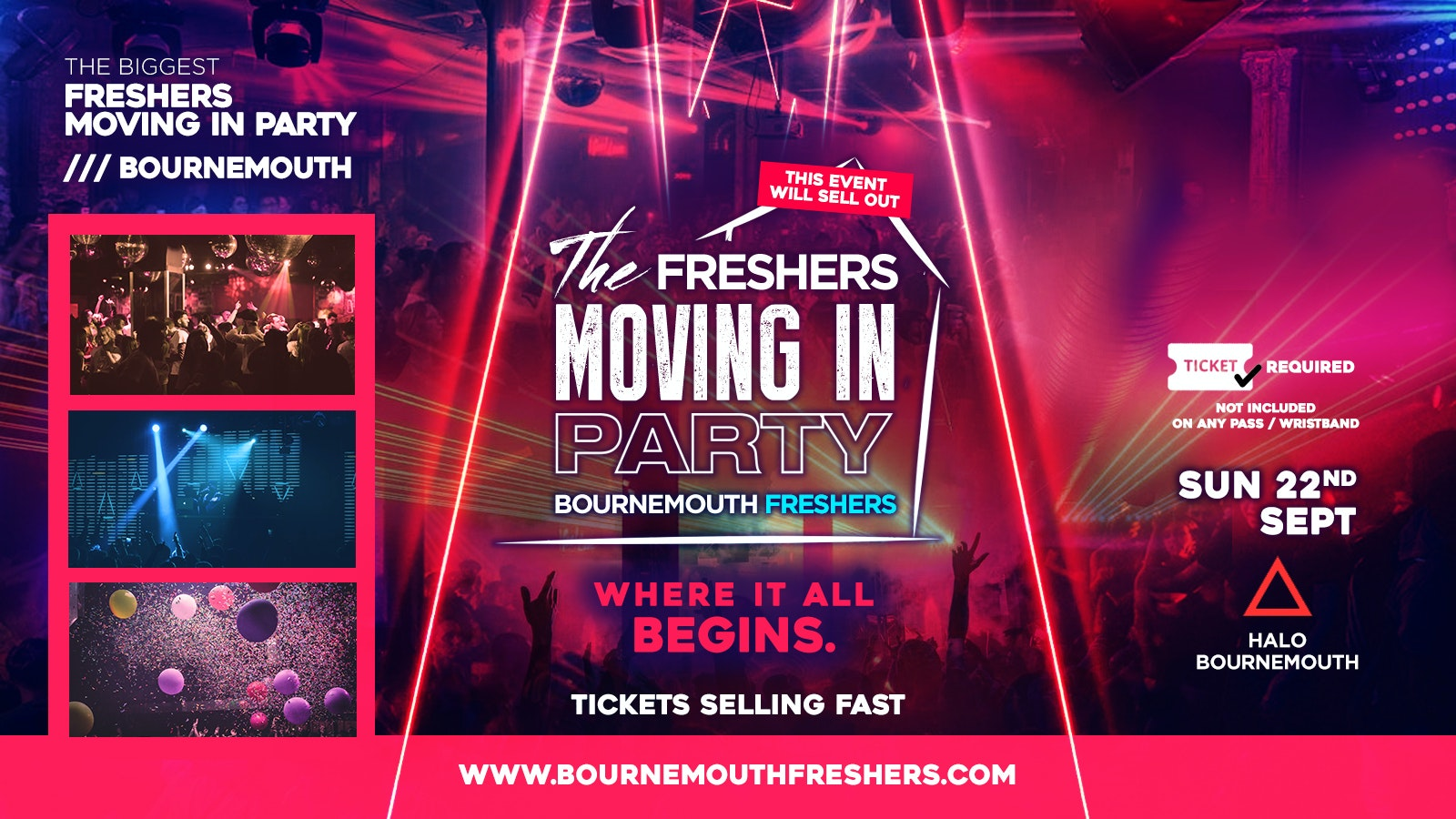 Freshers Moving in Party at Halo // Bournemouth Freshers 2019
