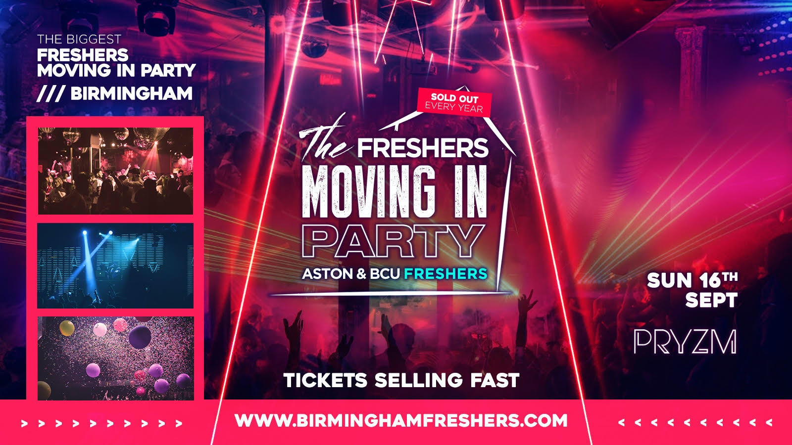The Official Birmingham Freshers Moving In Party at PRYZM // Birmingham Freshers 2019