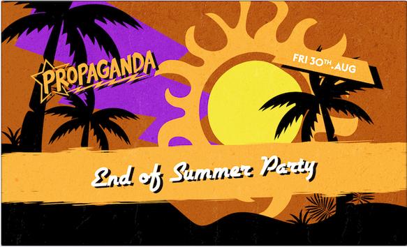 Propaganda Cambridge – End of Summer Party
