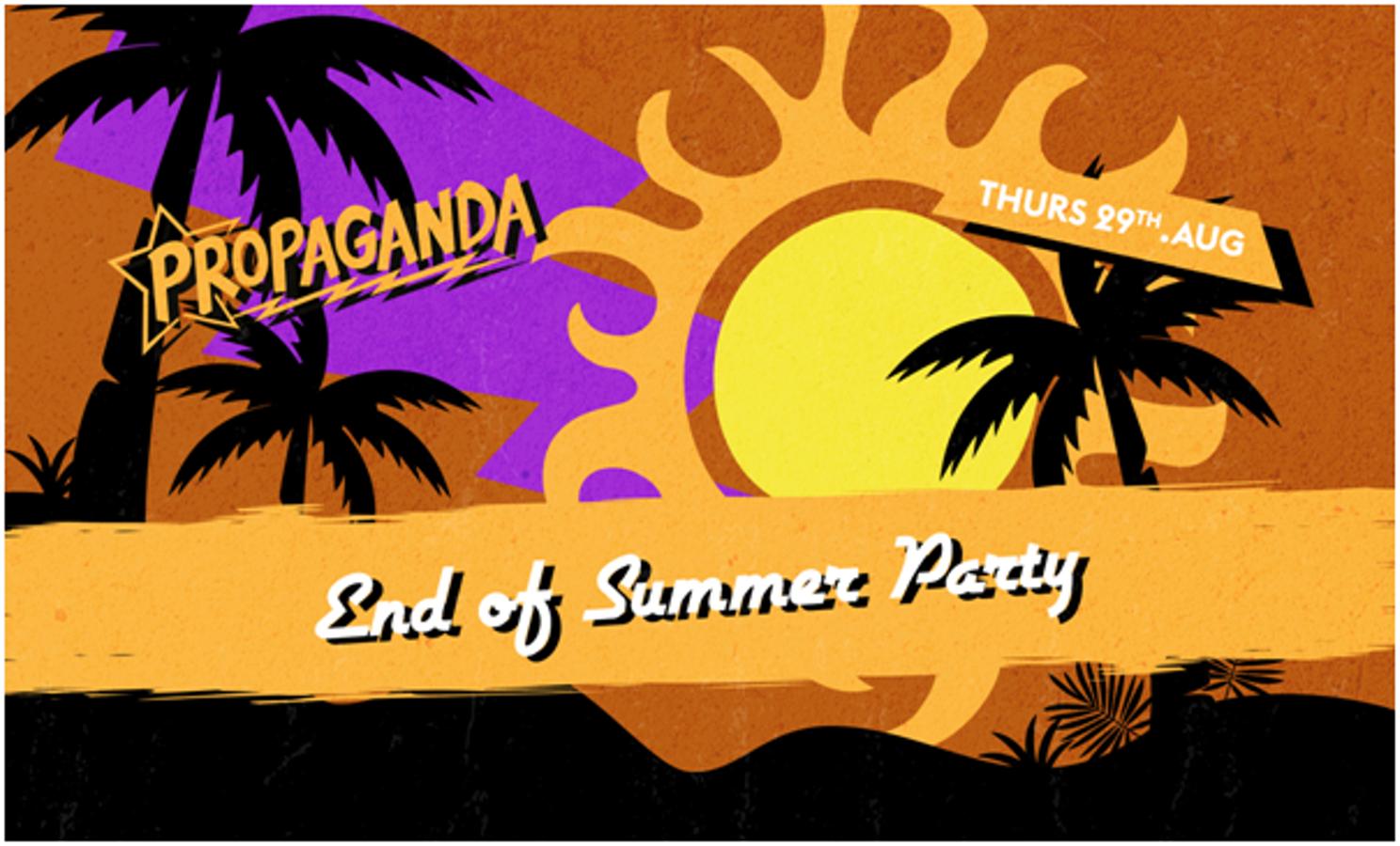 Propaganda Cheltenham – End of Summer Party