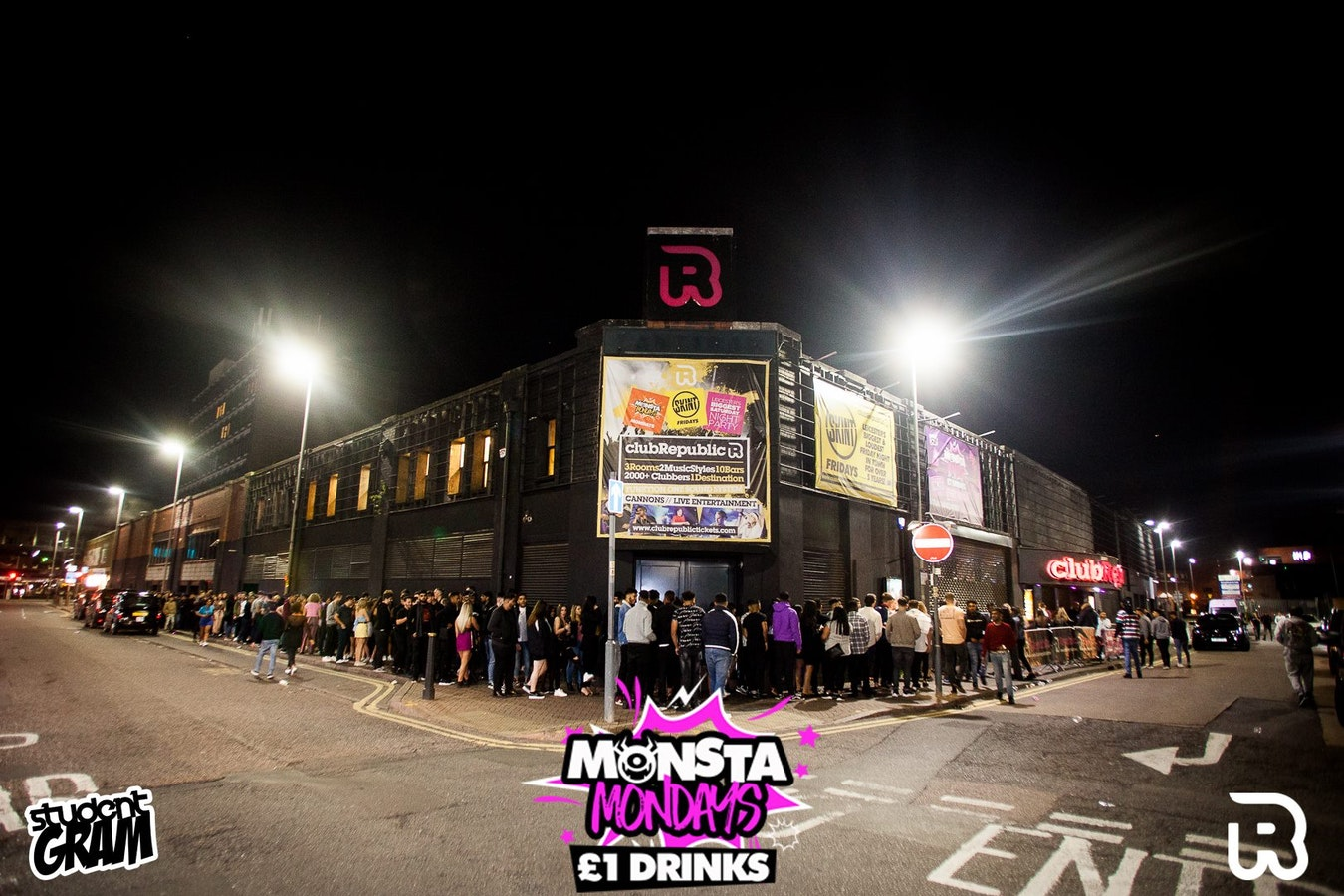 Monsta Mondays – Freshers UniClash with £1 Drinks – Club Republic