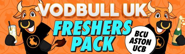 Vodbull UK Freshers Pack – BCU/Aston/UCB