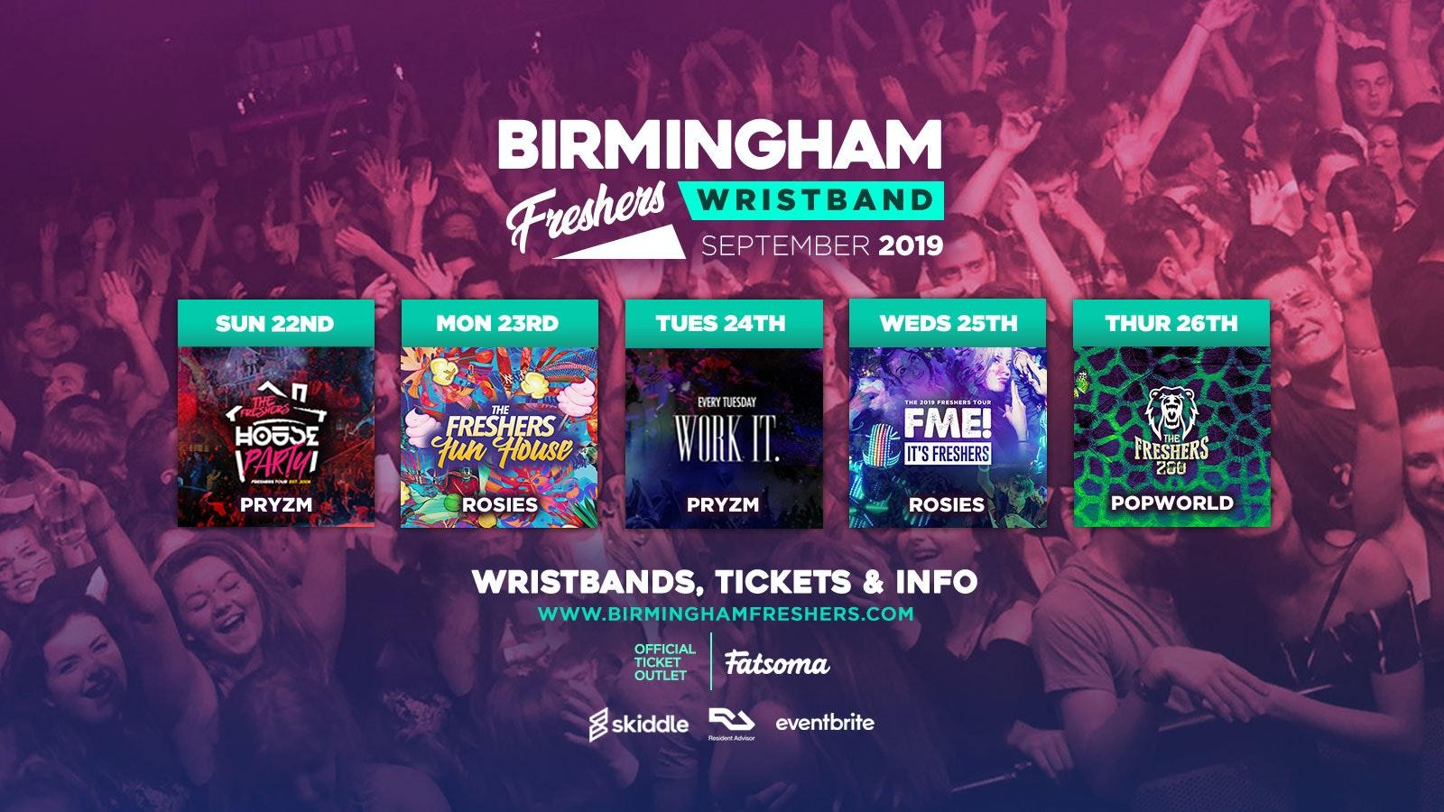 Birmingham Freshers Wristband 2019 ///