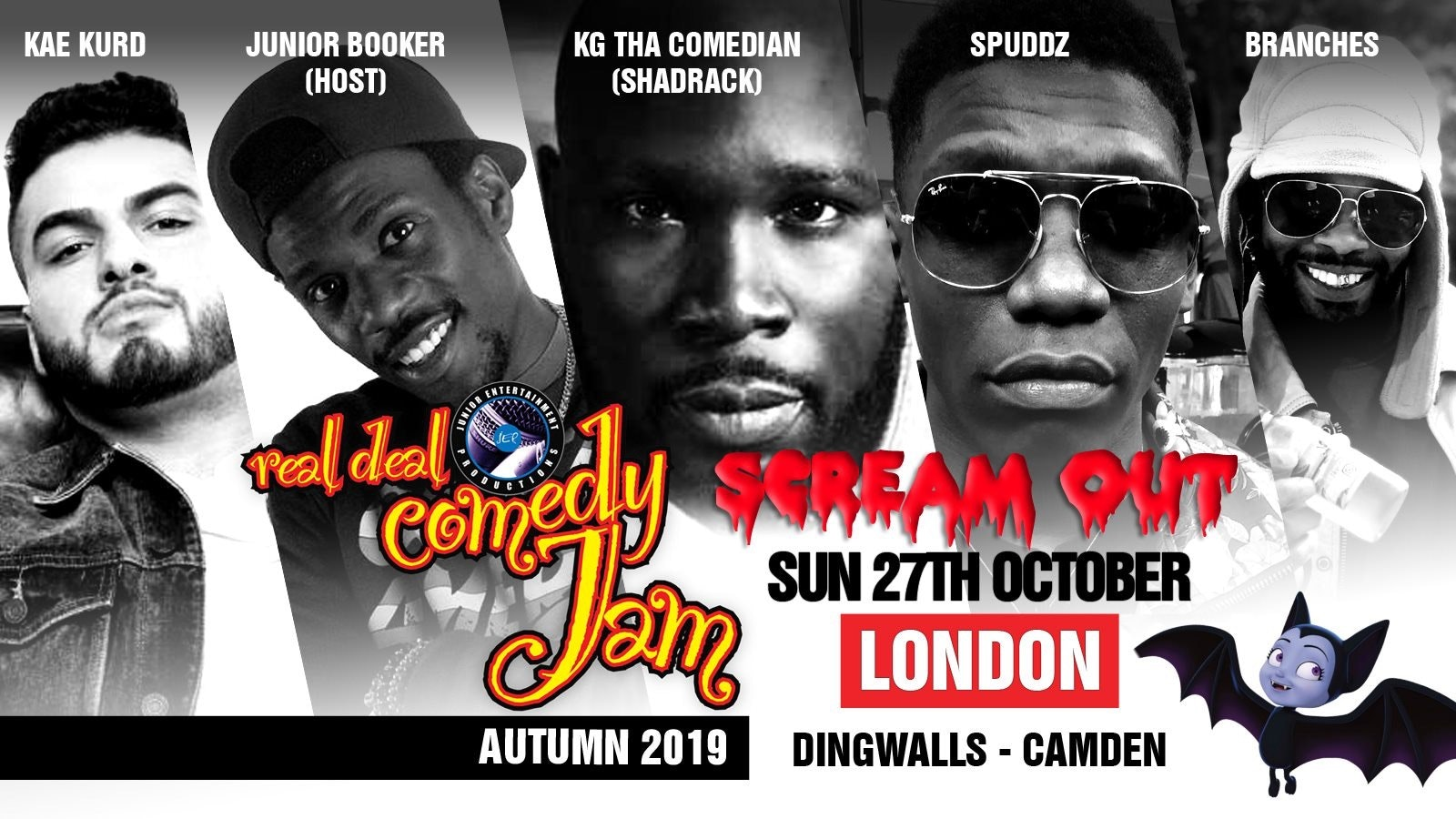Real Deal Comedy Jam – London – Scream Out
