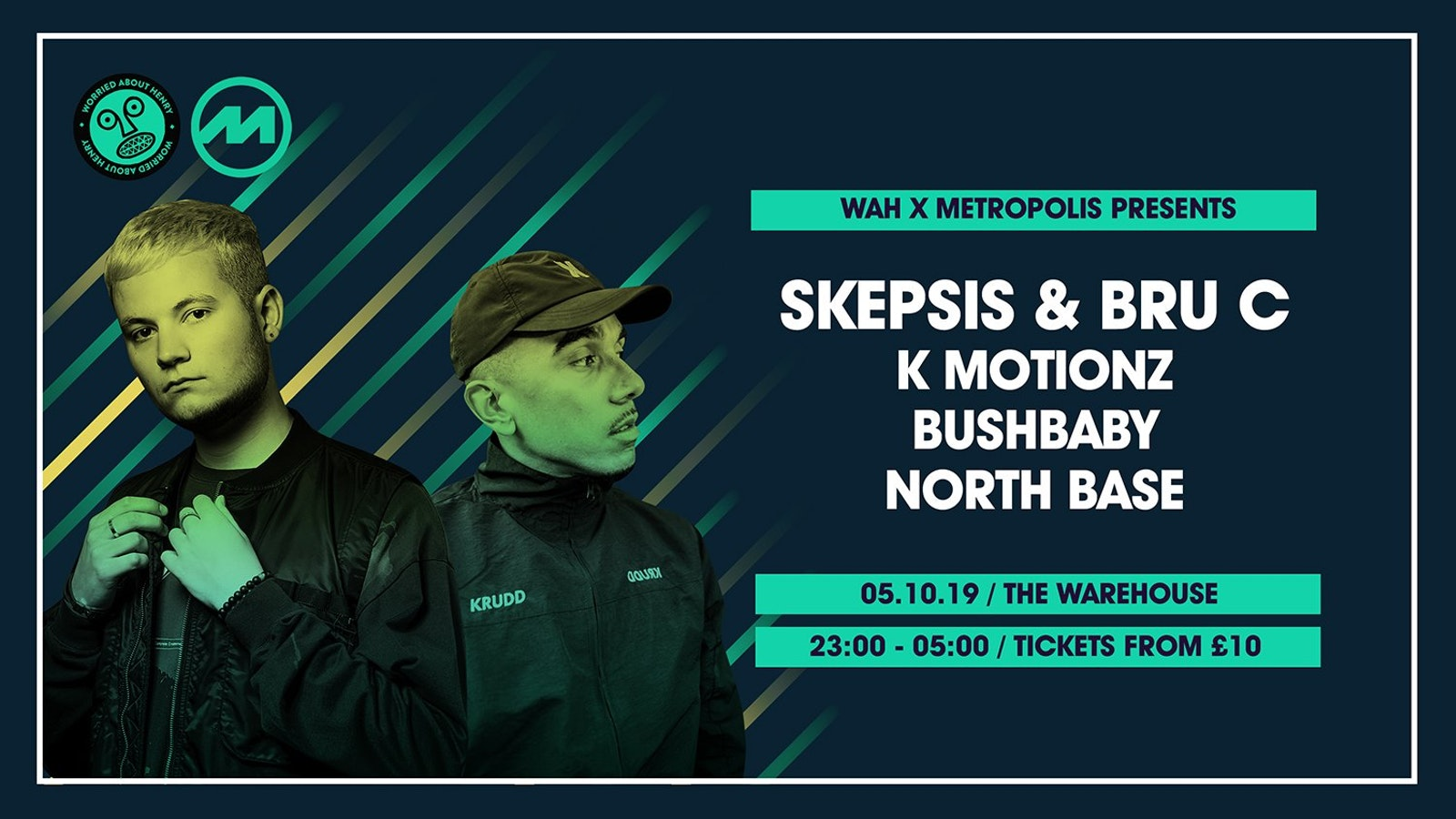 Skepsis & Bru-C, K Motionz, Bushbaby – The Warehouse Leeds