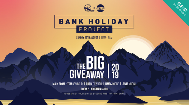 Bank Holiday Project Pt. 4 at Space :: Sun 25th August :: The BIG Giveaway