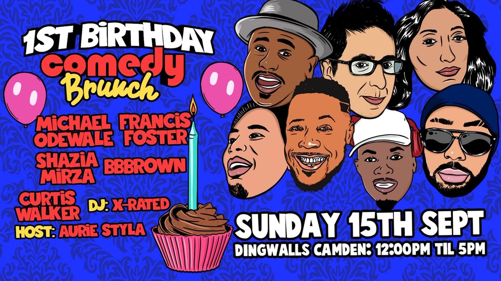 Comedy Brunch – 1st Birthday Event