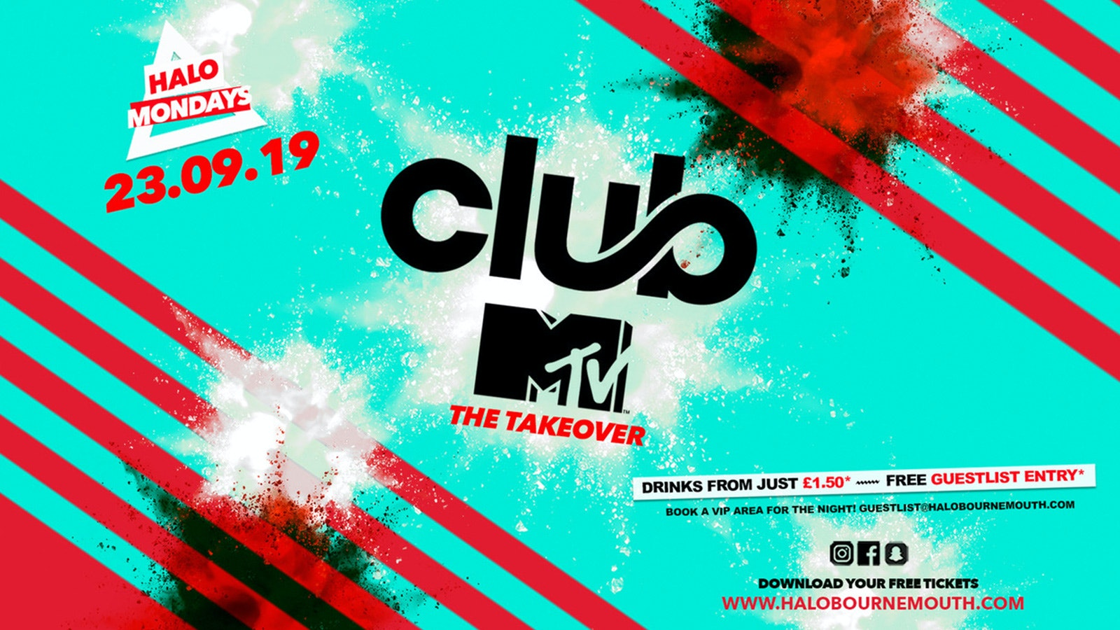Halo Mondays 23.09 //// Drinks from £1.50 – Bournemouth's Biggest Student Night // MTV Freshers Launch // Bournemouth Freshers