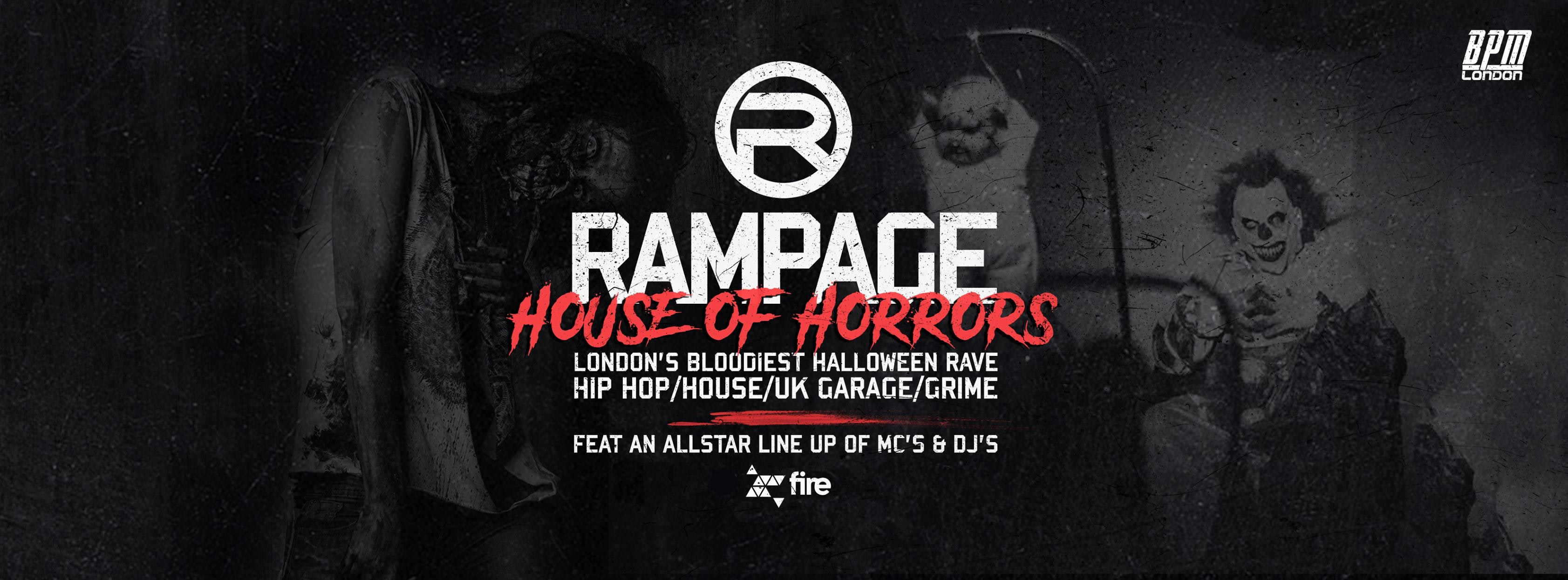 The Rampage Sound House Of Horrors Halloween Rave – ft Crazy Cousinz