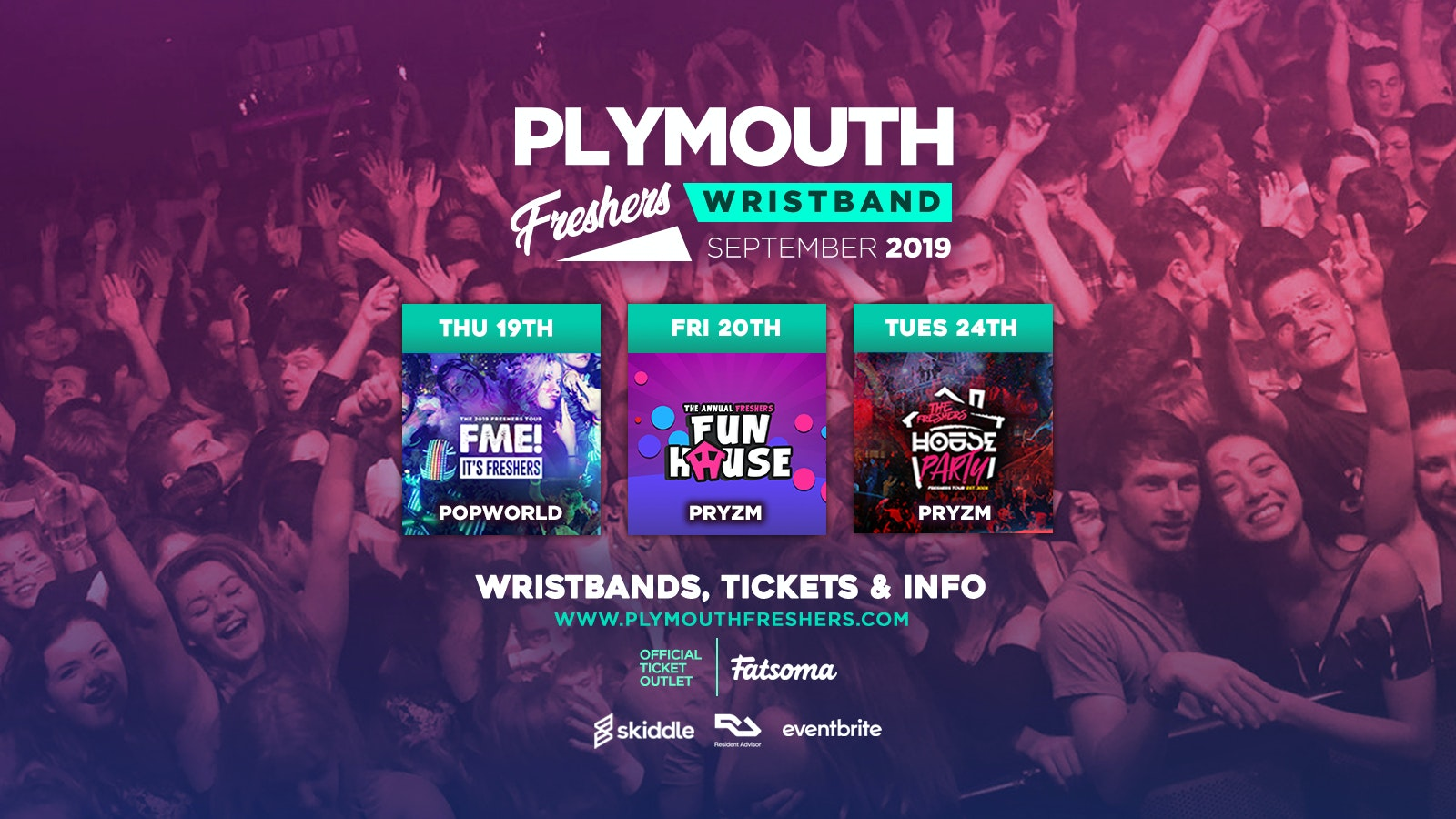 Plymouth Freshers Wristband 2019 ///
