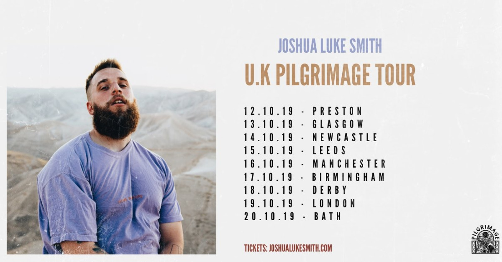 Joshua Luke Smith U.K Pilgrimage Tour