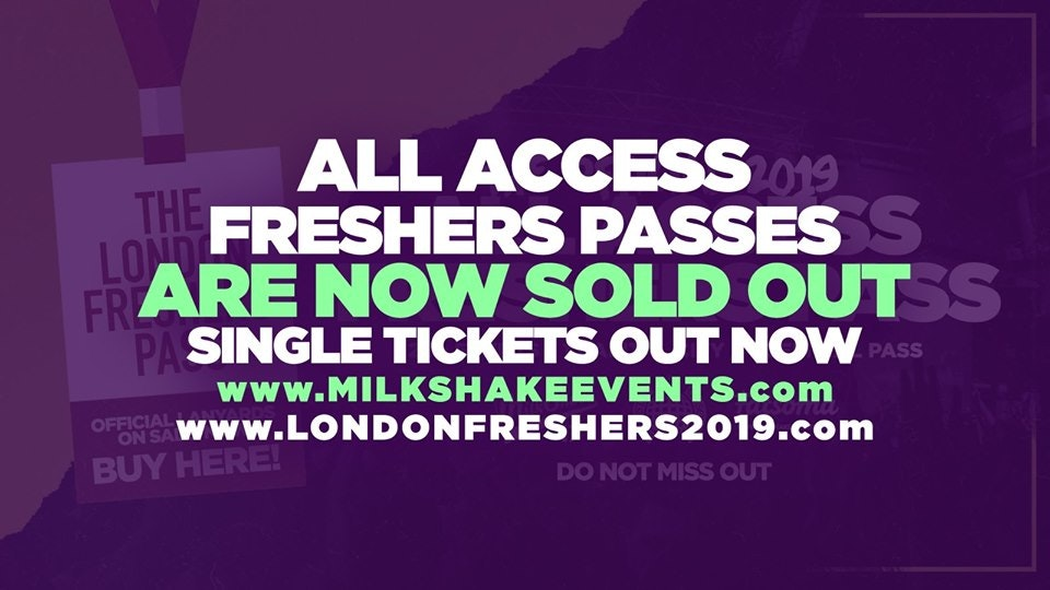 🚫SOLD OUT 🚫THE OFFICIAL 2019 ALL ACCESS FRESHERS PASS | SOLD OUT! NO MORE ON SALE!