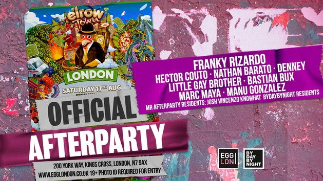 Elrow Town Festival official afterparty: EGG LDN