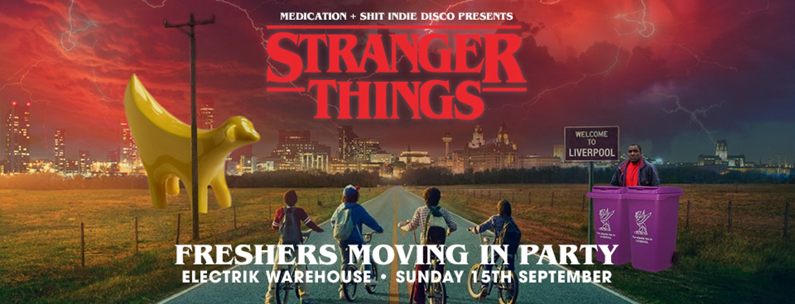 STRANGER THINGS FRESHER'S MOVING IN PARTY