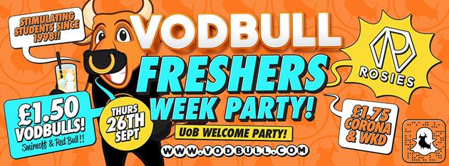 Vodbull!! UoB Freshers Week!!