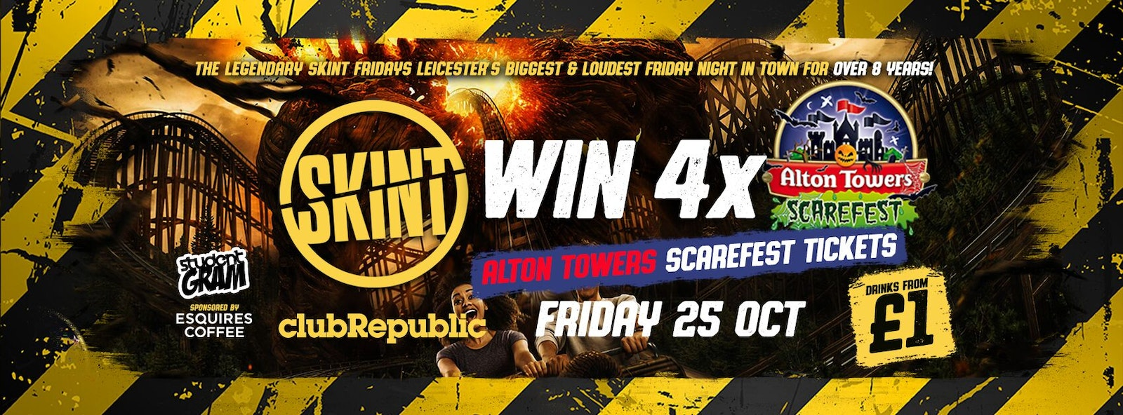 ★ Skint Fridays ★ Alton Towers Scarefest Tickets Giveaway ★ Club Republic ★