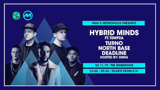 Hybrid Minds, Turno, North Base at The Warehouse Leeds