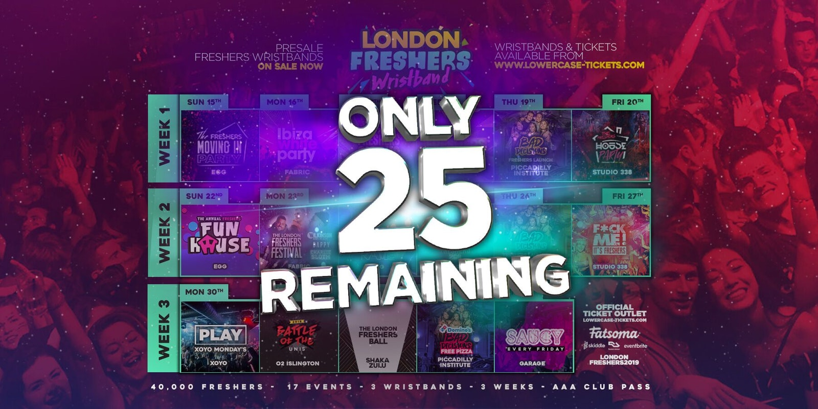 THE OFFICIAL LONDON FRESHERS WRISTBAND 2019 ✅