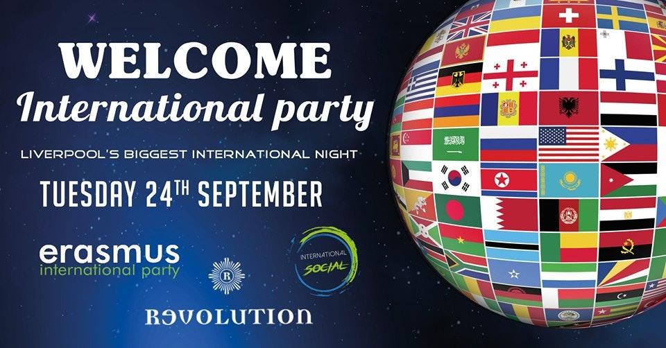 Erasmus Welcome International Party – Liverpool