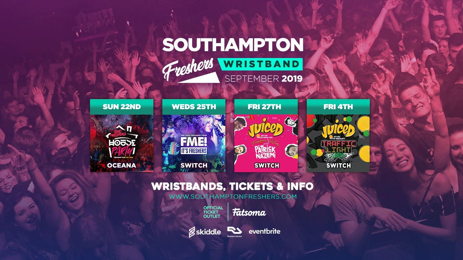 Southampton Freshers Wristband 2019 ///