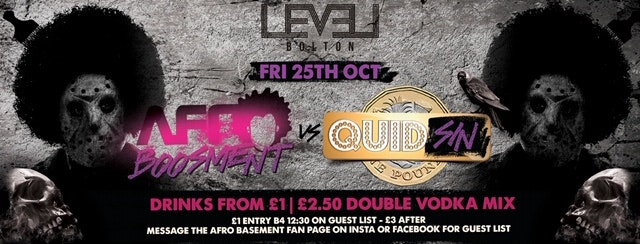 Quid SIN  in Fridays vs Afro-Boos-ment Halloween special