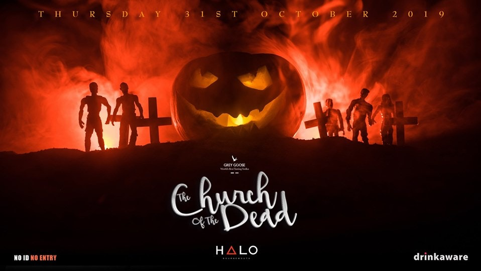 The Church of the Dead – Halo Halloween 2019 / Final Tickets on sale now.