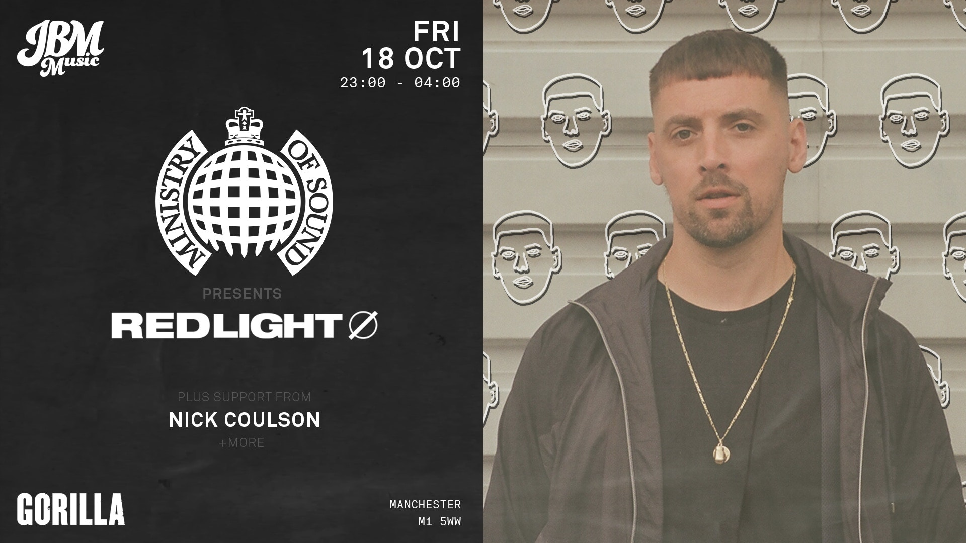 Cancelled: Ministry of Sound: Redlight