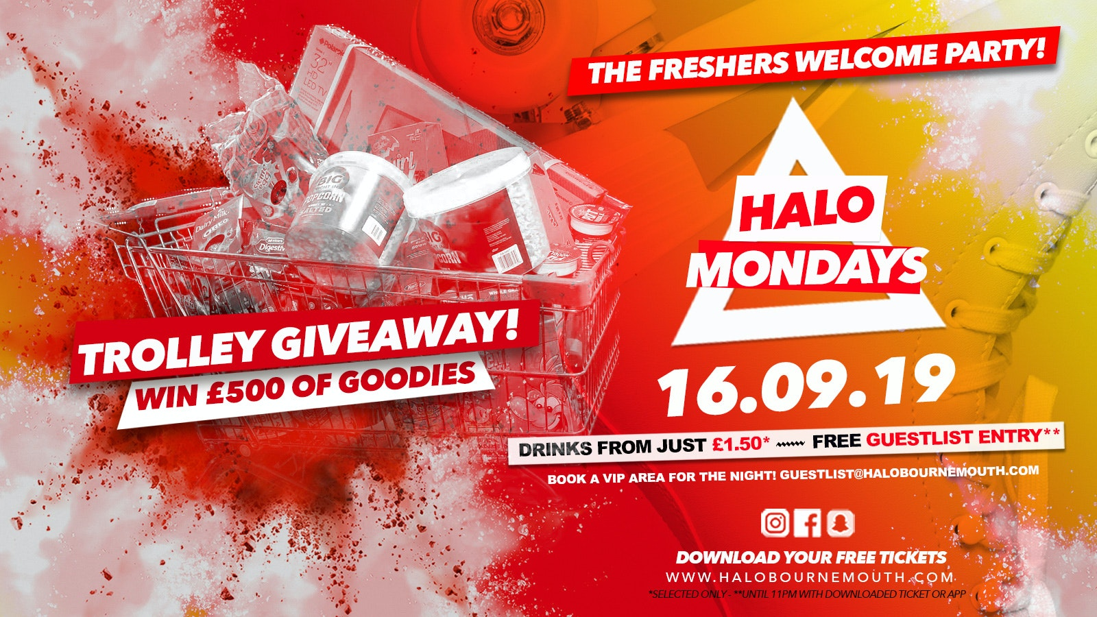 Halo Mondays 16.09 //// Drinks from £1.50 – Bournemouth's Biggest Student Night
