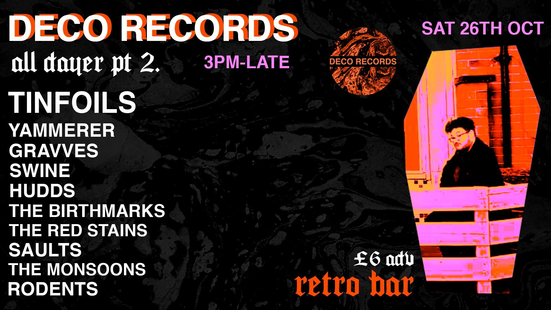 Deco Records Halloween All-Dayer at Retro